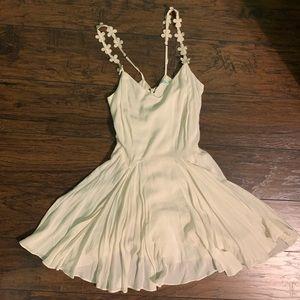Kimchi Blue Cream FloralShoulder Straps Dress